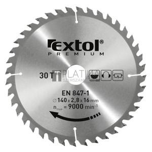 Extol körfűrészlap, keményfémlapkás, 160×30mm(lyuk átm), T24; 2,8mm lapkaszélesség, max. 9000 ford/perc