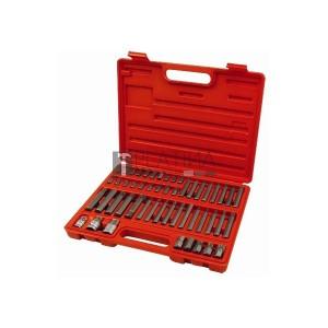 Extol BIT klt. 51 db HEX-TORX-XZN, 10mm+14mm, 3/8+1/2 adapterek, S2 acél, műanyag dobozban