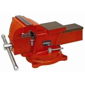 Extol satu forgatható;150 mm, 11 kg, max.befogás:115mm, max. összeszorító erő: 10kN, pofák keménysége: HRC 48-52