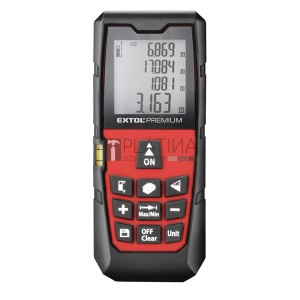 Extol távolságmérő, digitális lézeres; mérési tartomány: 0,05-80m, pontosság: +/-1,5mm, 98 g