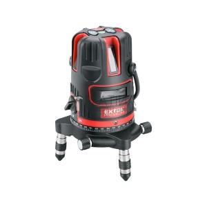 Extol automatikus lézeres vízszintező, PIROS, 1H4V6D (1 horizontális+ 4 vertikális+ 6 pont) pontosság:0,2mm/1m, 5/8 menet