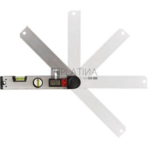 Extol vízmérték, digitális szögmérővel, 305mm, 2 libella, ±0,5mm/1m, illetve 0-225°, ±0,3°, LCD kijelző