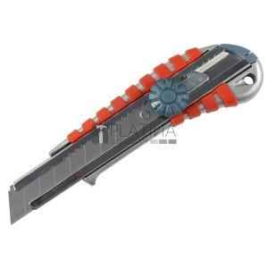 Extol tapétavágó kés, csavaros rögz. ALU fémházas, gumírozott; 18mm