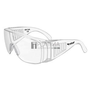 Extol védőszemüveg, víztiszta, polikarbonát, CE, optikai osztály: 1, ütődés elleni védelmi osztály: S