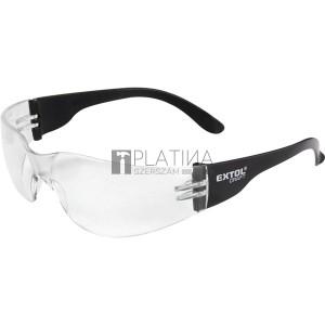 Extol védőszemüveg, víztiszta, polikarbonát, CE, optikai osztály: 1, ütődés elleni védelmi osztály: F