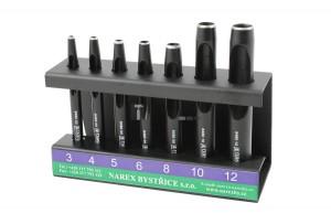NAREX bőrlyukasztó hengeres készlet 7r. 3-12mm 854800