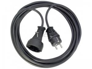 BAT műanyag hosszabbítókábel, fekete, 3G1,5