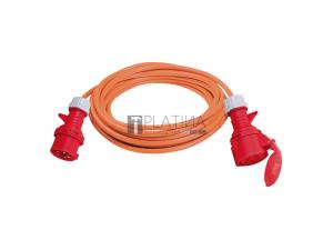 CEE hosszabbítókábel, 5-eres, 400 V, 5G2,5 narancs kábel