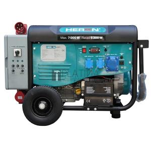 Heron 421 Grey; háromfázisú hálózatba köthető 1 fázisú; 6,8 kVA-es vészhelyzeti áramfejlesztő, kommunikációs egységgel