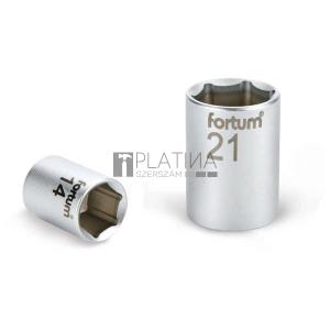 Fortum dugófej, 1/2, 61CrV5, mattkróm; 44mm hosszú