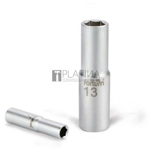 Fortum dugófej, hosszított, 1/2, 61CrV5, mattkróm, 77mm hosszú