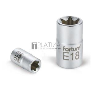 Fortum dugófej, torx, 1/2, 61CrV5 mattkróm, 38mm hosszú