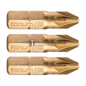 Fortum behajtóhegy PZ, 3 db, S2 acél, Titanium bevonat; PZ, bliszteren