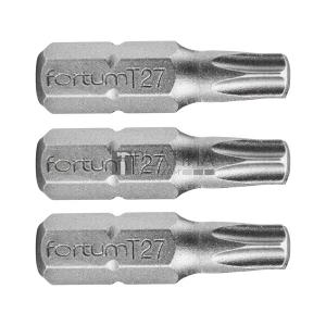 Fortum behajtóhegy TORX, 3 db, S2 acél; T, bliszteren