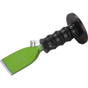 Extol laposvéső, műanyag kézvédővel; 230mm, 57 mm széles vágóél (16 mm szár), edzett, hőkezelt szénacél