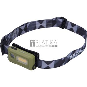 Extol LED fejlámpa, SMD+COB, 140 Lumen; tölthető akkuval, 8 funkció, cseppálló IPX4
