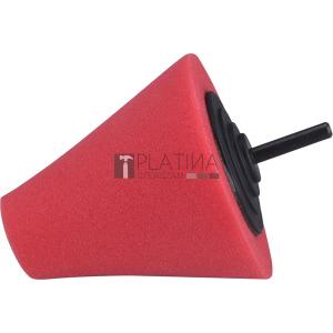 Extol polírozó kúp, finiselő, T10, 80 mm, tengelycsonk: 6 mm; vörös