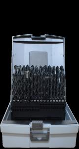 Abraboro HSS-R fémfúró készlet DIN 338, 50 részes