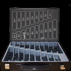 Abraboro HSS-R fémfúró készlet DIN 338, 170 részes