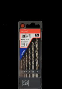 Abraboro HSS-GS fémcsigafúró készlet DIN 338, 6 részes