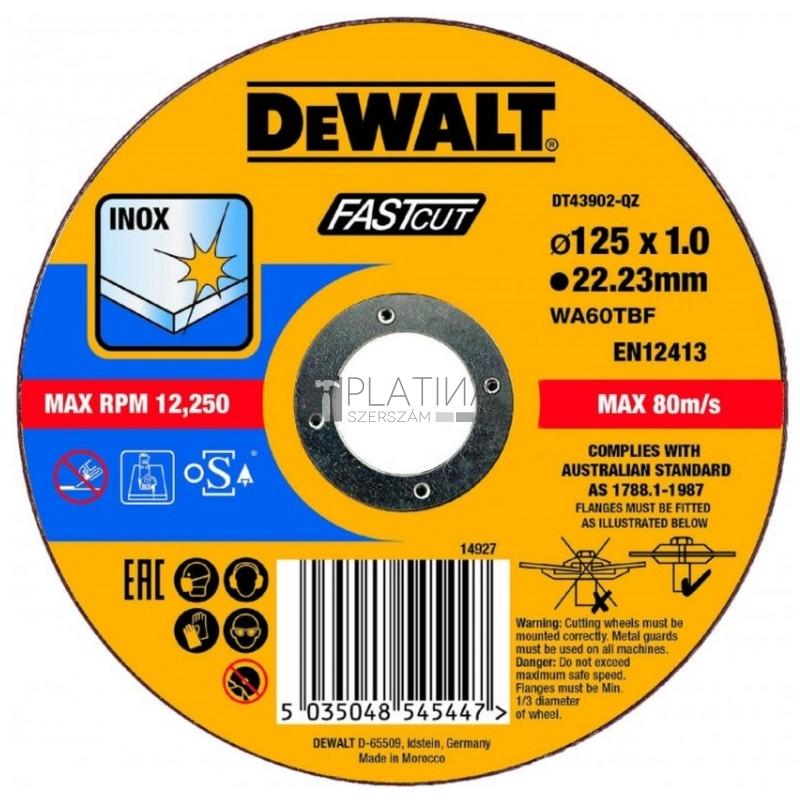 DeWalt DT43902-QZ vágókorong 125mm x 1mm INOX