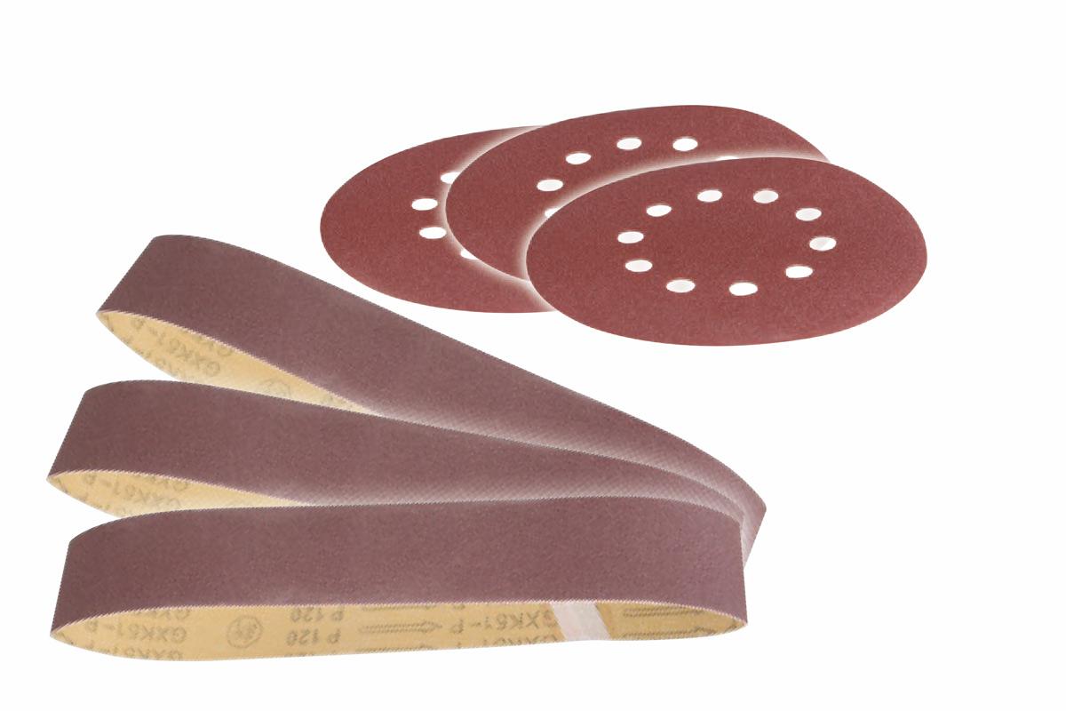 Scheppach 6 részes csiszolószalag és csiszolópapír szett