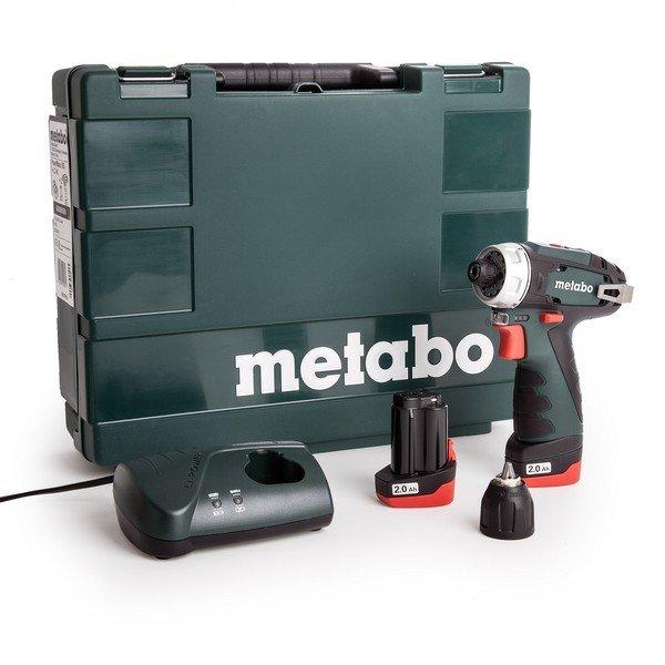 Metabo PowerMaxx BS Basic akkus fúró- csavarbehajtó (2db 12V 2.0Ah)