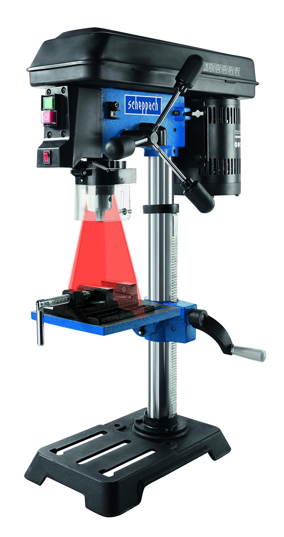 Scheppach DP 16 SL -állványos fúrógép lézeres özpontontosítással