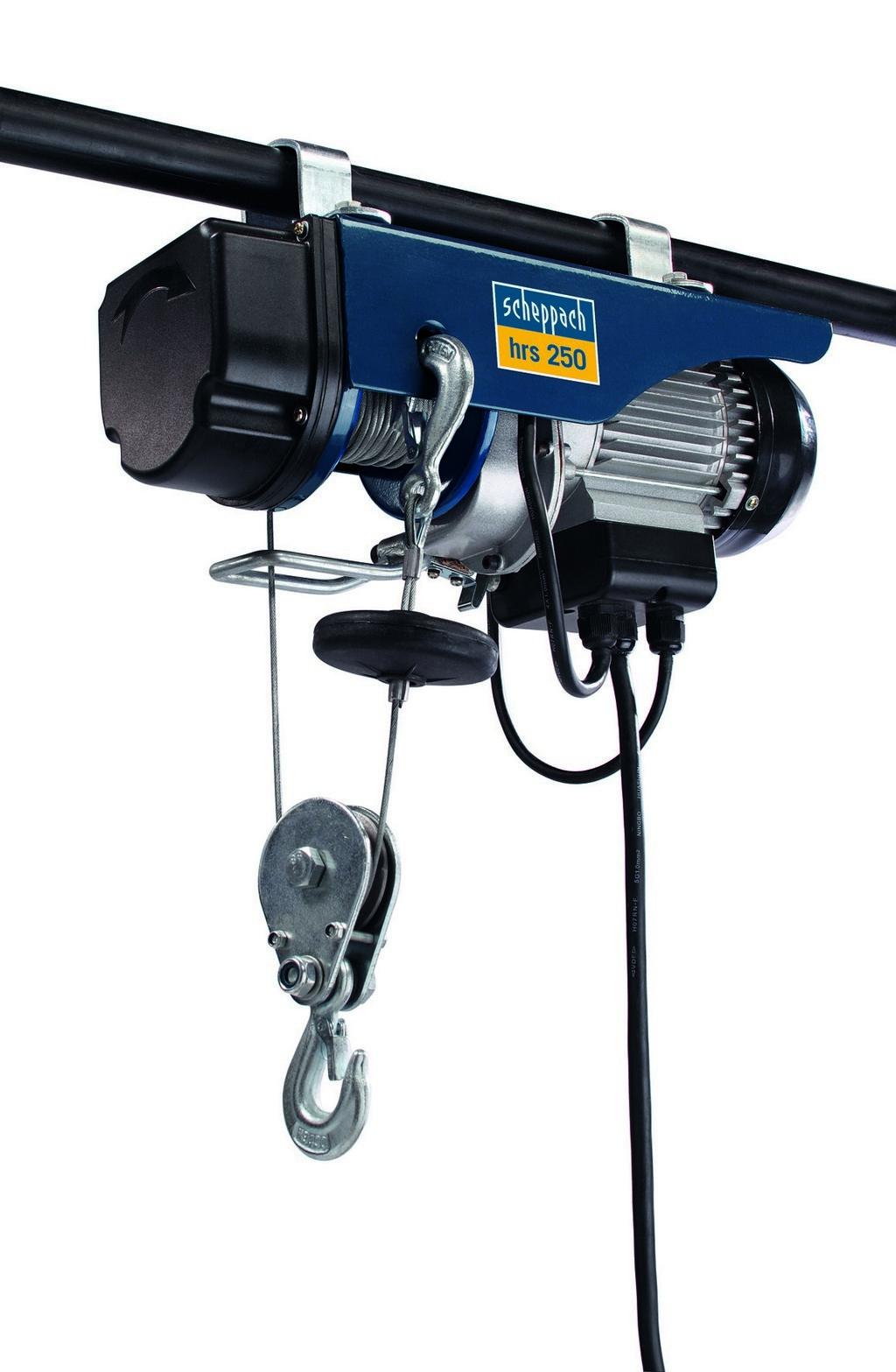 Scheppach HRS 250 elektromos drótköteles csörlőemelő