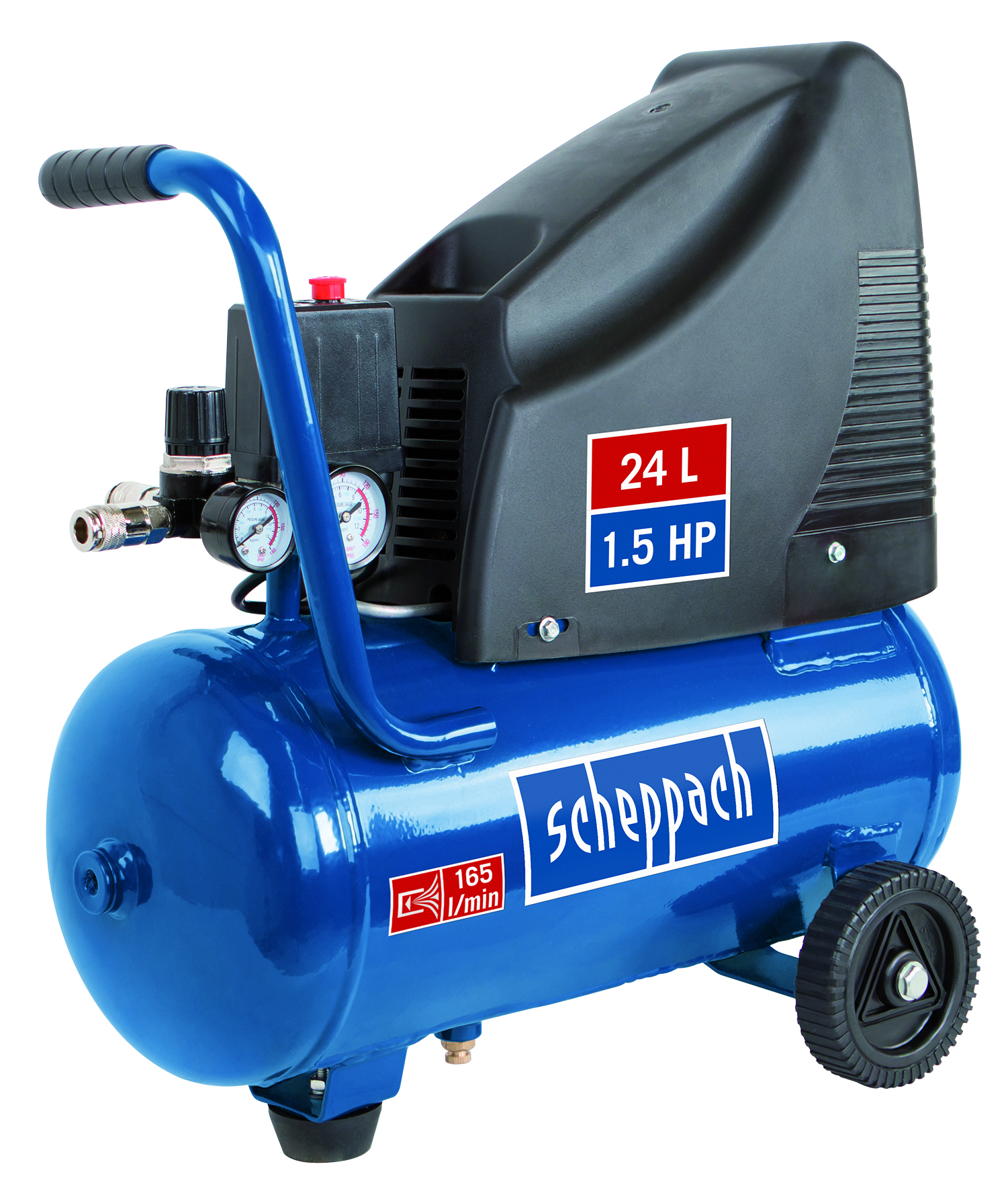 Scheppach HC 25o olajmentes kompresszor (1,1kW, 24l, 8bar)