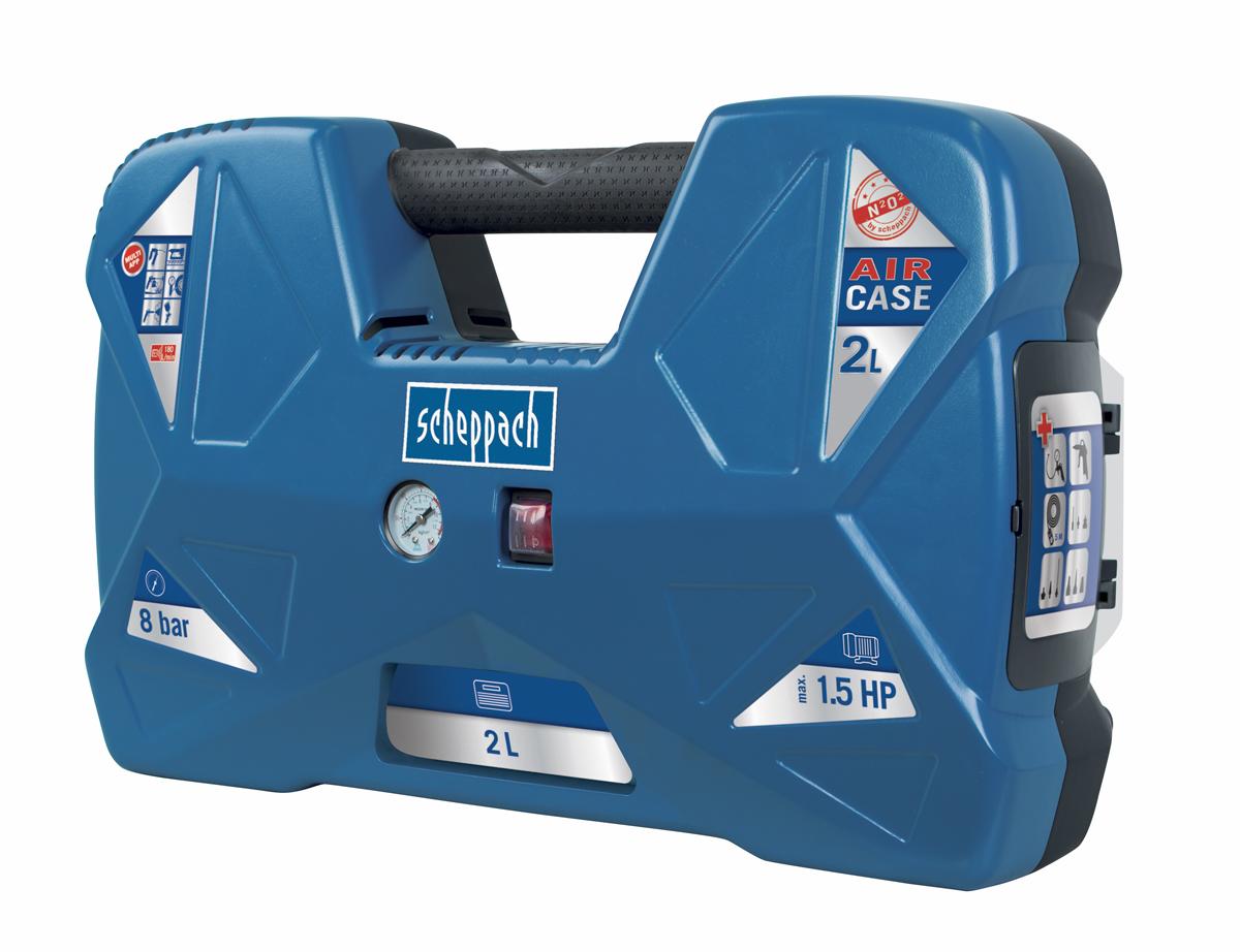 Scheppach Air Case olajmentes táskakompresszor (1,1kW, 2l, 8bar)