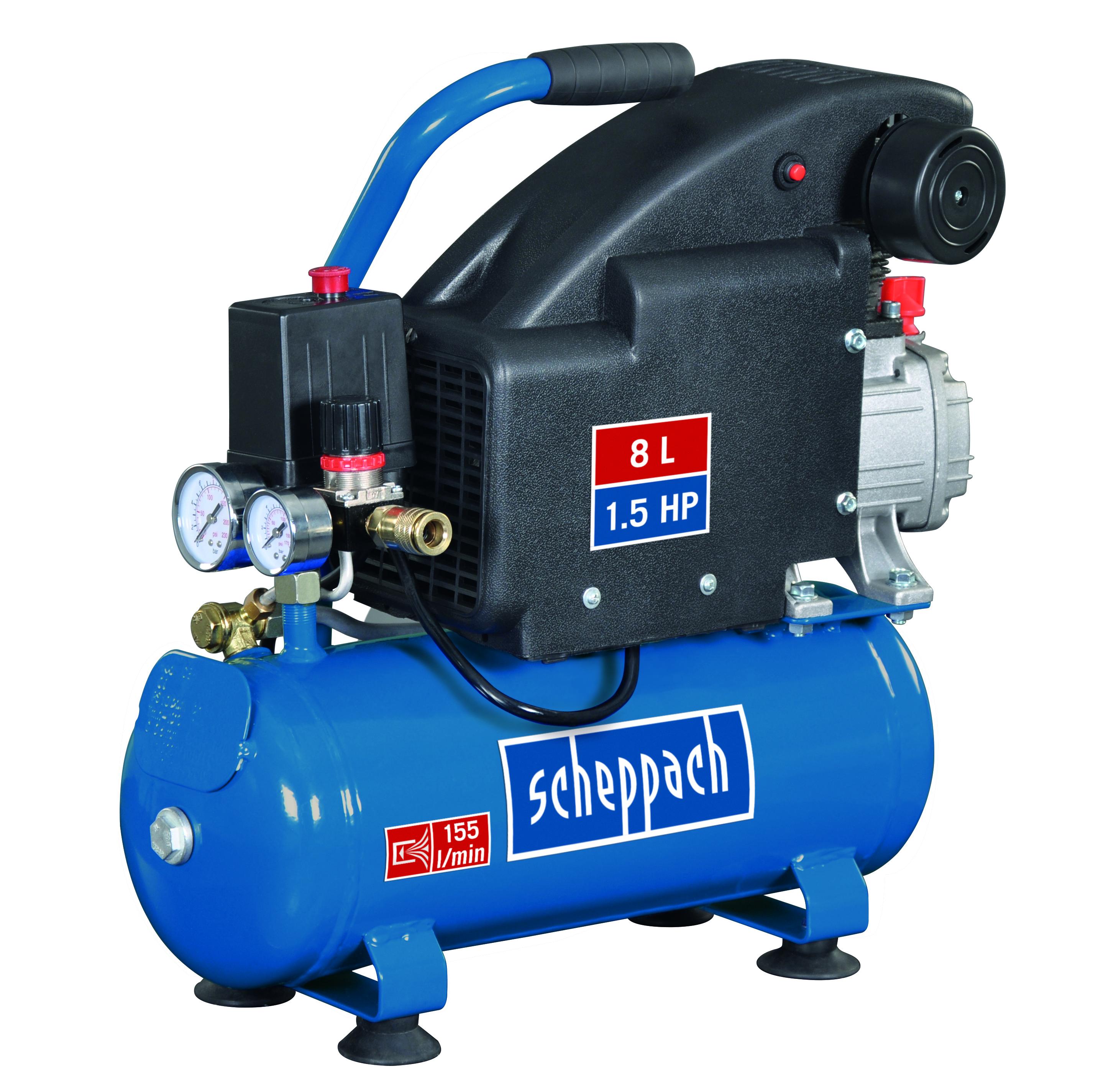 Scheppach HC 08 kompresszor (1,1kW, 8l, 8bar)