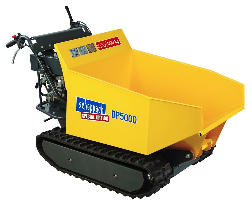 Scheppach DP 5000 hernyótalpas szállítógép hidraulikus billenéssel