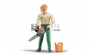 Bruder bworld erdészeti munkás munkaeszközökkel (60030)