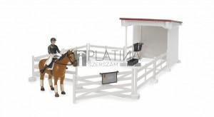 Bruder bworld lovasudvar női lovásszal és lóval (62521)