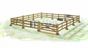 Bruder bworld kerítés /barna/ (62604)