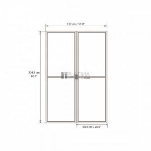 Palram Torino ajtó (szürke)