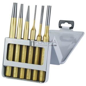 EXTOL lyukasztó és kiütő klt. 6db CV. HRC 52-58 ; 3 db lyukasztó, 3db kiütő, 3-8mm, 150mm