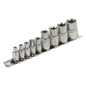 Extol 9 részes 1/4  dugófej készlet E-TORX 8818114