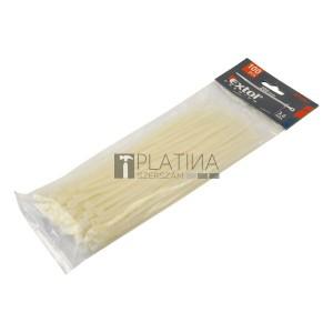 EXTOL PREMIUM kábelkötegelő, 100db, fehér nylon