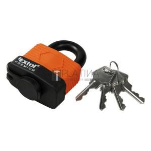EXTOL PREMIUM vízálló lakat, laminált, 4db kulcs; 40mm