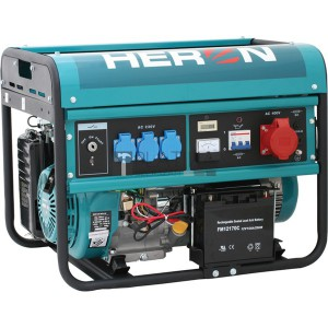Heron EGM-60 AVR-3E háromfázisú áramfejlesztő (max. 6 kVA) + elektromos öninditó