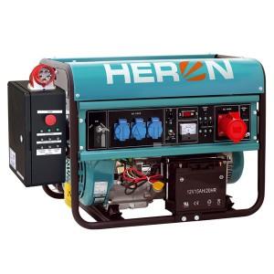 Heron EGM-68 AVR-3E háromfázisú áramfejlesztő (max 6,5 kVA) +HAE-3 inditóautomatika + GSM, önindító