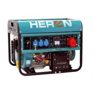 Heron EGM-68 AVR-3E háromfázisú áramfejlesztő (max 6,8 kVA) + önindító