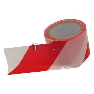 EXTOL jelölő szalag, piros-fehér; 75mm×100m, polietilén (kordonszalag)