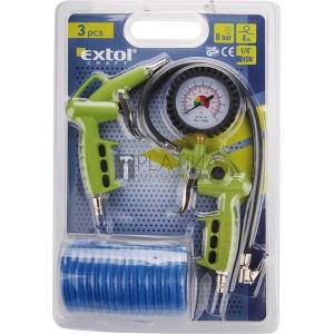 Extol Craft 3 részes légkompresszor tartozék szett