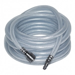 Pansam spirálos erősített tömlő sűrített levegőre,PVC, gyorscsatlakozóval