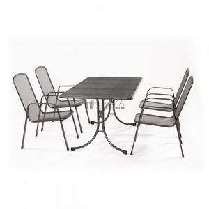 MWH Bani 4+1 részes fémhálós kerti bútor készlet
