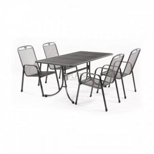 MWH Banis 4+1 részes fémhálós kerti bútor készlet