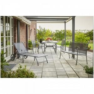 Royal Garden Excelsior 4+3 részes fémhálós kerti bútor készlet